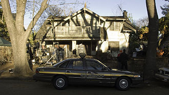 Halloween (2007 film) - The Myers house film location early March 2007 on Glendon Way in South Pasadena, California.