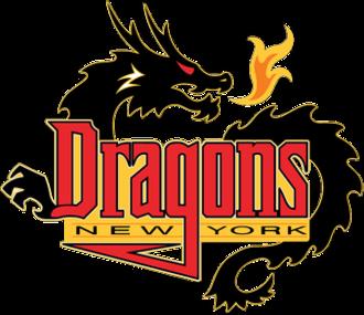New York Dragons - Image: New York Dragons logo (2001 2008)
