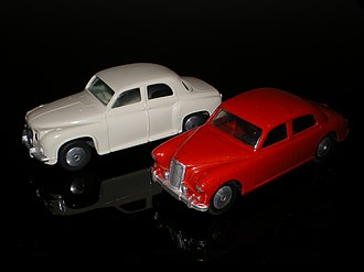Corgi Toys - 204 Rover 90 and 205 Riley Pathfinder