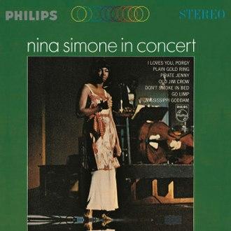 Nina Simone in Concert - Image: Ninasimoneinconcert