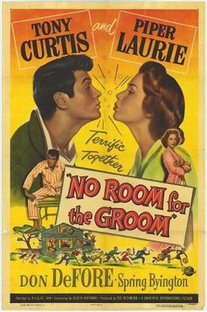 No Room for the Groom - Film poster by Reynold Brown