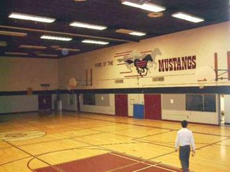 Saint Michael Catholic High School (Niagara Falls, Ontario) - Inside the gymnasium of the old Saint Michael location