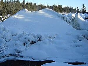 Pisew Falls Provincial Park - Pisew Falls in winter