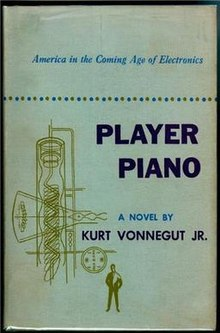 Cover of Player Piano (novel). First Edition.
