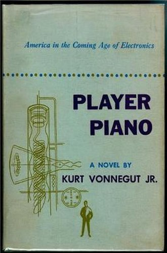 Kurt Vonnegut - Cover of Player Piano (novel). First Edition.
