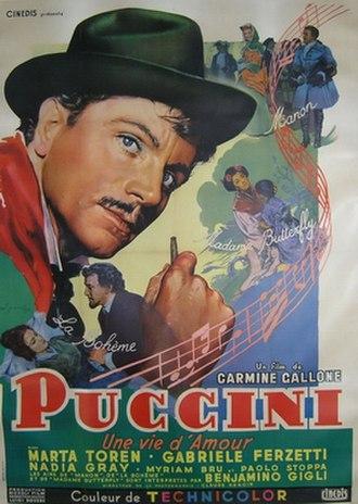 Puccini (film) - Image: Puccini (film) poster