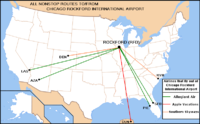 Domestic destinations served fromChicago Rockford International Airport(As of June 6, 2008)