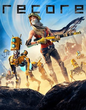 ReCore - ReCore key art, showing protagonist Joule (center right) flanked by Mack (center left) and other friendly corebots.