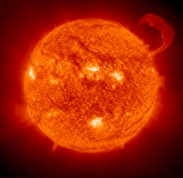 Sun as seen from SOHO spacecraft.