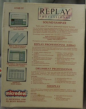 Replay Professional - Image: Replay back cover CIMG1210