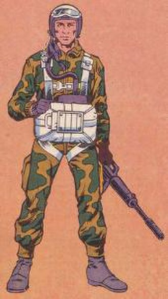 Rip Cord (G.I. Joe) - Illustration of Rip Cord from G.I. Joe: Order of Battle. Art by Herb Trimpe.