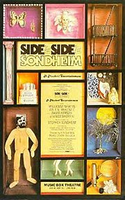 "Image of poster from the original Broadway production of the Stephen Sondheim revue, ""Side by Side by Sondheim."""