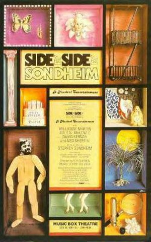 "Revue - Image of poster from the original Broadway production of the Stephen Sondheim revue, ""Side by Side by Sondheim."""