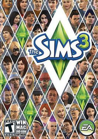 The Sims 3 - The 2009-2010 box art for The Sims 3