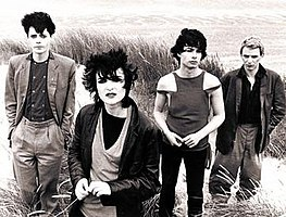 Siouxsie and the Banshees in 1979, left to right: Kenny Morris, Siouxsie Sioux, John McKay and Steven Severin