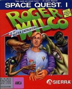La spaco Quest I - Roger Wilco en La Sarien Renkonto-kover.jpg