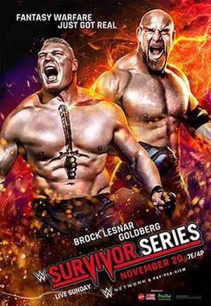 Survivor Series (2016) - Promotional poster featuring Brock Lesnar and Goldberg