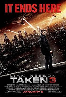 <i>Taken 3</i> 2014 action film by Olivier Megaton