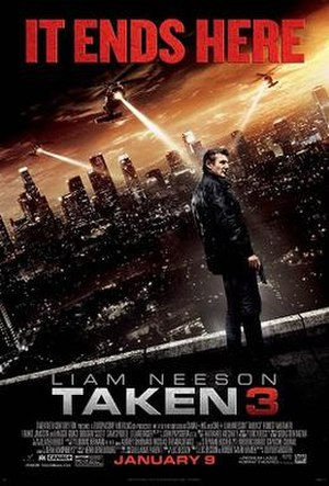Taken 3 - Theatrical release poster