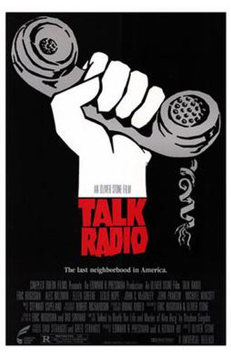 Talk Radio (film) - Theatrical release poster