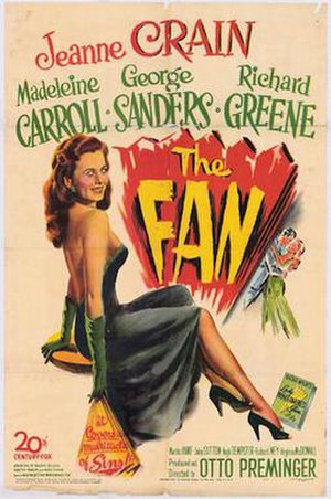 The Fan (1949 film) - 1950 US Theatrical Poster