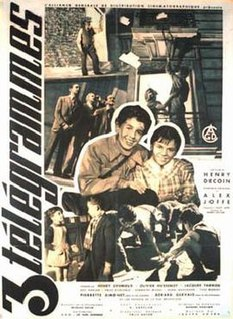 <i>Three Telegrams</i> 1950 French film directed by Henri Decoin
