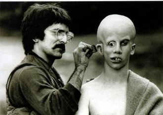 Jason Voorhees - Tom Savini applies make-up to Ari Lehman, creating his vision of Jason Voorhees.