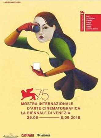 75th Venice International Film Festival - Festival poster