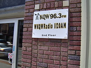 WKQW (AM) -  WKQW studio building from 1993 to 2010, at 222 Seneca Street, Oil City.