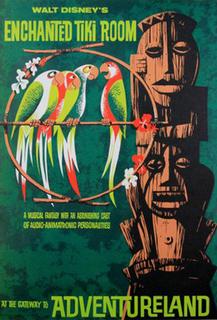 Walt Disneys Enchanted Tiki Room Pseudo-Polynesian theatre-in-the-round attraction at Disneyland and Magic Kingdom