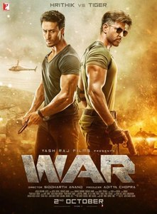 <i>War</i> (2019 film) Indian 4D action film directed by Siddharth Anand