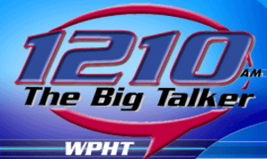 "WPHT - WPHT's logo as ""The Big Talker 1210"", used until January 2011."