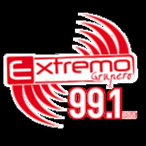 XHUI-FM - Image: XHUI Extremo Grupero 99.1 logo