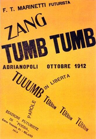 Artist's book - Zang Tumb Tumb, 1914, by Marinetti