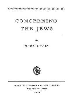 mark twain essay on the jews