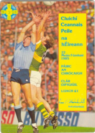 1985 All-Ireland Senior Football Championship Final - Image: 1985 All Ireland Senior Football Championship Final programme
