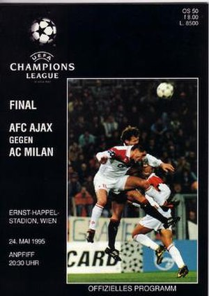 1995 UEFA Champions League Final - Match programme cover