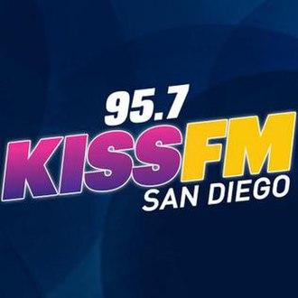 KSSX - Image: 95.7 KISS FM San Diego logo