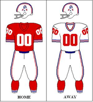 1970 Boston Patriots season - Image: AFC 1970 Uniform NE