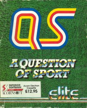 A Question of Sport (video game) - Acorn Electron Cover art