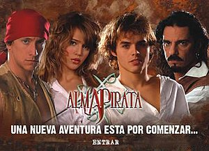 Alma Pirata - Promotional poster for the series.