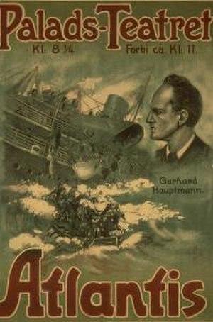 Atlantis (1913 film) - 1913 film poster by Aage Lund
