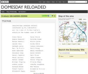 BBC Domesday Reloaded - BBC Domesday Reloaded screenshot