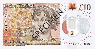Bank of England £10 note - Image: Bank of England £10 reverse