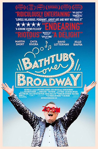 Bathtubs Over Broadway - Theatrical release poster