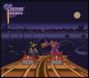The Adventures of Batman & Robin (video game) - Image: Batman vs joker