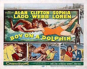 Boy on a Dolphin - Original lobby card