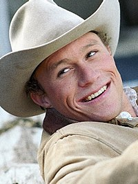 Heath Ledger as Ennis del Mar in Brokeback Mountain