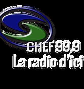 CHEF-FM - Image: CHEF CHEF99,9 logo