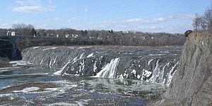 Cohoes Falls - Cohoes Falls in Winter - Very Low.